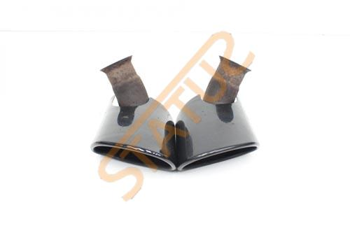 Porsche 911 996 Factory Gloss Black Exhaust Tips Pair
