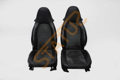Porsche 911 996 Boxster 986 Black Leatherette Alcantara Sports Seats