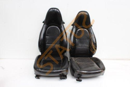 Porsche 911 996 Boxster 986 Black / Tan Leather Tombstone Seats