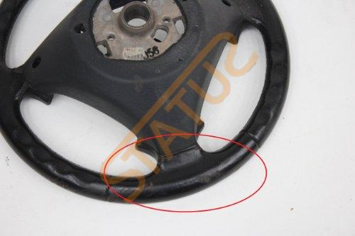 Porsche Cayenne 955 957 Black Leather Heated Steering Wheel DAMAGED