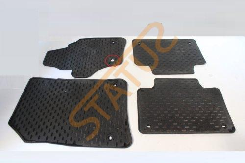 Porsche Cayenne 955 957 Interior Black Rubber Floor Mats Set
