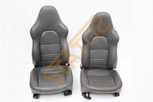Porsche 911 996 Boxster 986 Grey Leather Hard Back Sports Seats