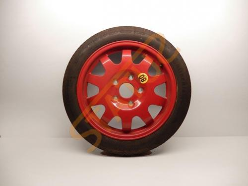 Porsche 911 996 Boxster 986 Red Alloy Space Saver Spare Wheel
